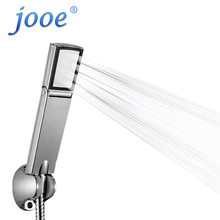 jooe high pressure handheld shower head Folding ON/OFF switch water saving ABS Plastic Square bathroom accessories je19(China)