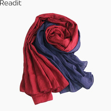 Autumn 2016 Winter Scarf Foulard Cuadros Patchwork Sciarpe New Unisex Soft Cotton Linen Basic Women's Big Scarves SC1088