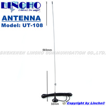 UT-108 144 430MHz bnc interphone dual band small magnetic base antenna vhf / uhf, bnc male