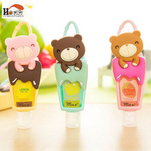 1pcs Cute Teddy Bear hung Travel portable Mini Plastic hand sanitizer/Shampoo/Makeup fluid bottle Bathroom with empty bottle(China)