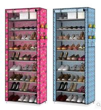 Simple shoe rack dustproof multilayer receive shoe rack cloth shoe ark