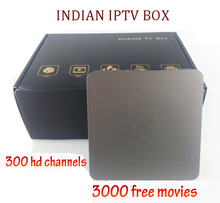 Quad core Indian IPTV BOX support Indian Live TV Channels with English channels internet TV box Android IPTV Box(China)