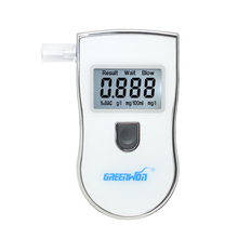 2017 NEW Hot selling Professional Police Digital Breath Alcohol Tester Breathalyzer AT818S Free shipping white(China)