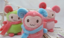 4PCS Kawaii 11CM Height 2014NEW Scarf Sheep Plush Stuffed Home & Window Sucker DOLL TOY ; Pendant Wedding Bouquet TOY Gift DOLL