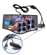 Arcade Joystick for PC For PS2 For PS3 For Android Smart TV with 1.8 Meter Cable and Built-in Vibrator Eight Direction Joystick