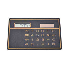 Mini Slim Credit Card Solar Power Pocket Calculator Counter Calculating Machine(China)