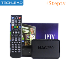 MAG250 Smart set top box with Arabic IPTV Steptv account APK Italian French UK Spain dutch EXYU Turkish Germany Europe TV list(China)