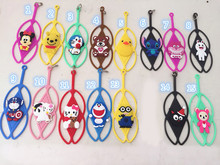 20pcs Universal all cell phone model Cartoon winnie teddy bear minion soft silicone case for iphone4 4s/5/6 plus etc with string