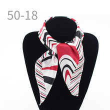 Fashion dots print scarf twilly small square scarves for women elegant foulard female silk chic neckerchief little scarf bandana