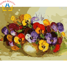 Oil painting calligraphy by numbers canvas brush figure drawing coloring by number flowers decor adult painting by numbers E646
