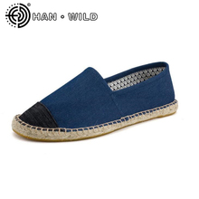 Flax Fashion 2018 Hemp Soft Men Casual Shoes Slip On Men Flats Male Espadrille Fisherman Shoes Couples Classic Canvas Shoes(China)