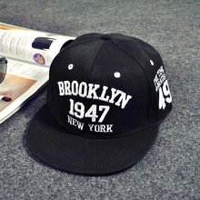 1947 brookLYN New YORK Baseball Caps Hip Hop Fashion Snapbacks PU Leather Advocate freedom Full Plain Hat Snap Back Gorras
