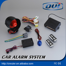 High quality one way security car alarm with 2 remote controllers user manual
