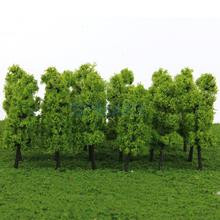 Pagoda Trees Model Train Railroad Scenery 1:200 20pcs Dark and Light Green