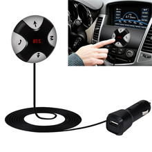 Mini Bluetooth Car Kit Mp3 Player Hands free Wireless Bluetooth 4.0 FM Receiver 3.5mm AUX Audio Player For Mobile Phones #S(China)