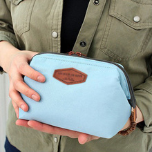 Cotton Makeup Organizer Storage Cute Cosmetic Bag Zipper Closure Large Capacity Toiletry Wash Pouch Women Tote Free Shipping