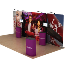 20ft portable trade show display Advertising equipment booth event exhibition with custom graphic printing