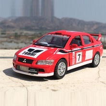 High Simulation Exquisite Diecasts&Toy Vehicles: KiNSMART Car Styling Dakar Rally Mitsubishi Lancer EVO 1:36 Alloy Diecast Model(China)