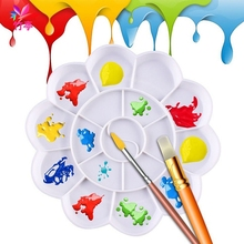 18Well Watercolor Plastic Oil Painting Tray Mixing Palette Artist Drawing Supply