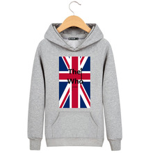 New Arrival 2016 Autumn & Winter Union Jack Pattern Print Men's Hoodies Moleton Masculino Brand Clothing High Quality Clothes(China)
