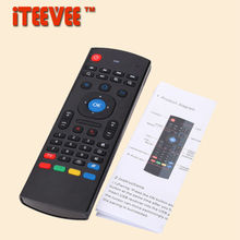 20PCS MX3 Air Mouse Wireless 2.4G Remote Control Keyboard for Android Mini PC TV Box with voice Mic