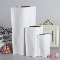 Wholesale White Stand-up Kraft Paper Ziplock Bag Resealable Biscuit Nuts Coffee Tea Packaging Pouch White Party Wedding Gift Bag