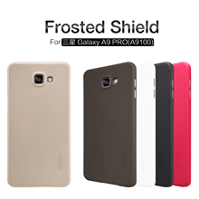 "Nillkin Frosted Shield Cell Phone Case For Samsung Galaxy A9 Pro 2016 A9100 6.0""inch Hard Back Cover Case free Screen Protector(China)"