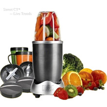 600W 12Piece Fruit Mixer Superfood Extractor Blender Food Processor Juicer Kitchen Appliances 2 Recipes Including