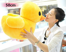 50cm ducks Plush stuffed toys, big yellow duck plush toys, stuffed duck doll for children, cotton soft, free shipping(China)