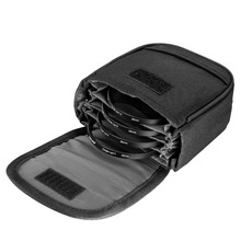 Neewer Black 4 Filter Capacity Compact Filter Pouch Case Nylon Durable with Small Belt for Filters Up to 82mm