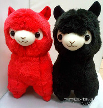 Amuse Janpa Sheep Red Black Alpaca 35-45cm Alpacasso Plush Soft Doll Animal Stuffed Toy For Baby Kids Birthday Gifts Wholesale(China)