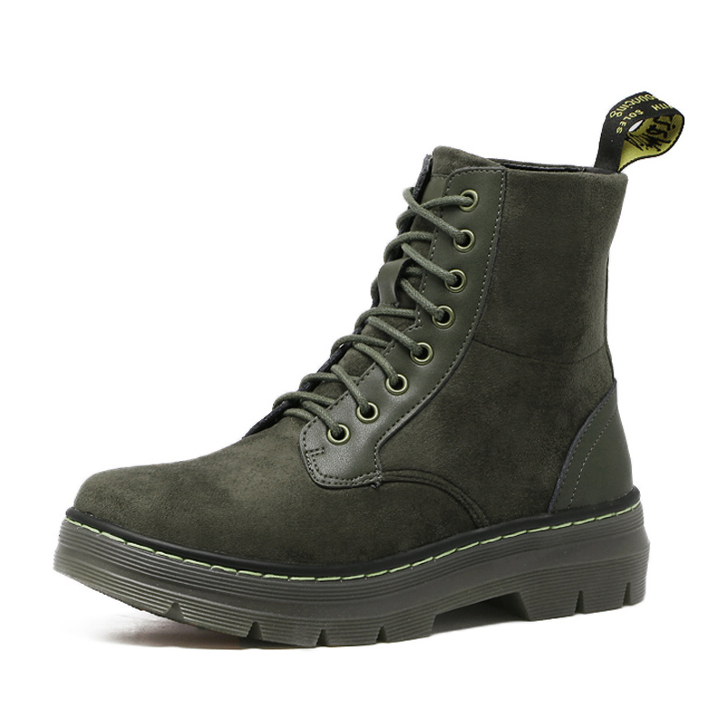 2017 Sexy Motorcycle Boot Women Ankle Boot Woman Outdoors WORK BOOTS Fashion leather Lace Up Flattie<br>
