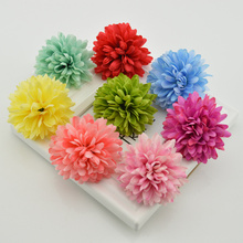 1 piece cheap silk carnation heads artificial flowers Pompon for home daisy Bride Bouquet wrist accessory wedding car decoration(China)