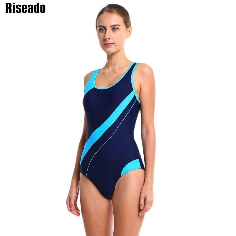 Riseado 17 Sport Swimming Suits One Piece Swimsuits Swimwear Women Summer Beach Padded Striped Bathing Suits Bodysuits 2