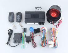 Security alarm one way car alarm system remote engine start stop function power window & shock trigger alarm universal version