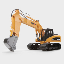 Excavator Metal Model Powerful Large size 15 Channel 2.4G 1/12 RC Charging 1:14 RC Car Rechargeable Battery HuiNa Toys 1550(China)