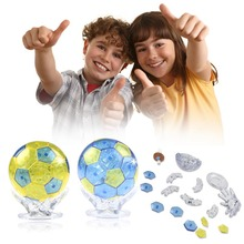 Football 3D Crystal Puzzles For Children Adult Puzzle DIY Kids Puzzles 3D Crystal Puzzle Jigsaw Assembly Model(China)