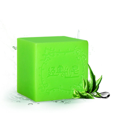 Natural aloe vera essential oil soap Handmade soap moisturizing whitening face cleansing skin bath soap #846(China)