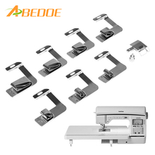 "ABEDOE 8pcs Universal Sewing Machine Rolled Hammer Foot Presser Spare Parts Accessories 4/8"" 5/8"" 6/8"" 8/8"" for Brother Singert(China)"
