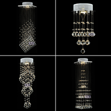 Crystal combination lamp double staircase lamp hallway porch balcony small pendant light  ZH SJ32