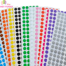 HEY FUNNY 4 sheets /set 1cm Circle Round Color Coded Label Dot Sticker Inventory Code Tag For Party DIY Decoration Free Shipping