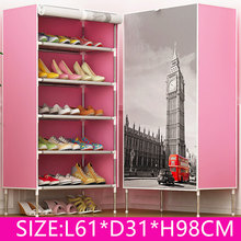 DIY Non-woven 5Tier 5 Homestyle Shoe Cabinet Shoes Racks Storage Large Capacity Home Furniture Diy Simple(China)