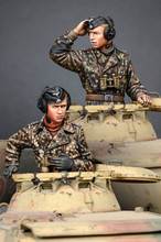 [tuskmodel] 1 35 scale resin model figures kit WW2 WSS Panzer Commander Set(China)