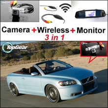 3 in1 Special Rear View Wifi Camera + Wireless Receiver + Mirror Monitor Easy DIY Back Up Parking System For Volvo C70