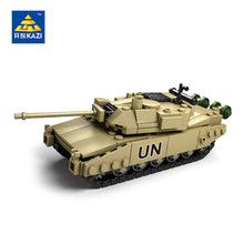 KAZI Military Building Blocks 4 Style DIY Army Classic War Tank Bricks Toys Set Christmas Gifts For Kids Compatible With Legoe