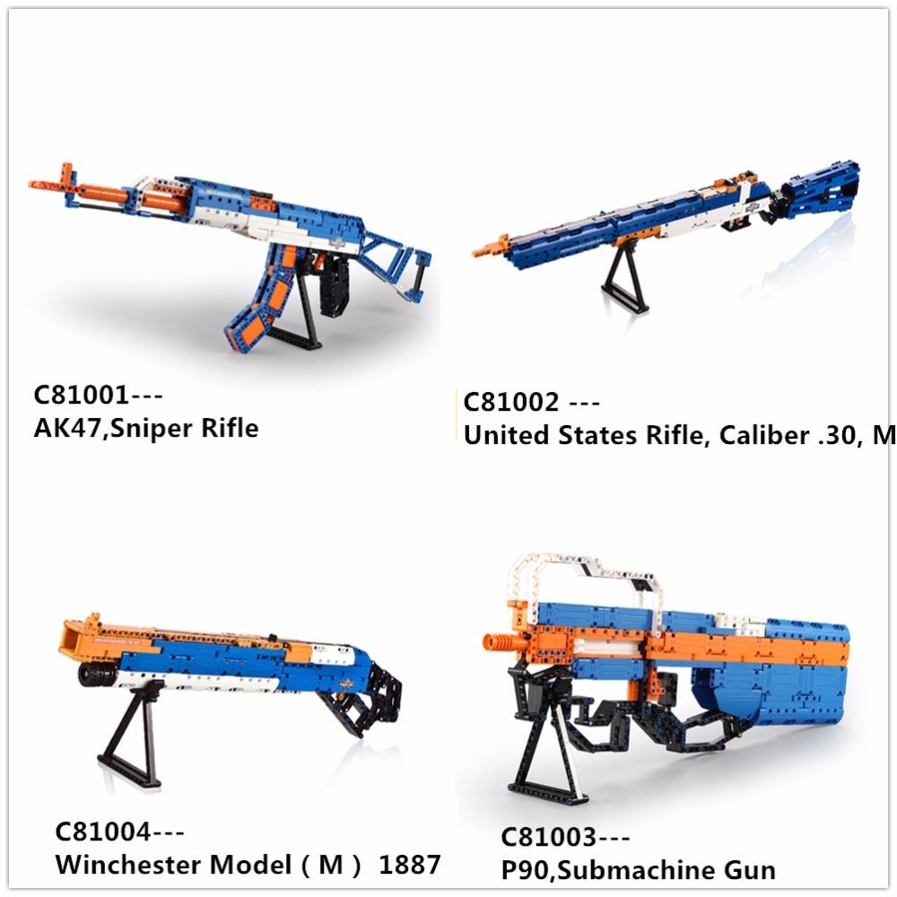 Blocks Army Weapons ak47 P90 M1887 Toy Guns building blocks brick Educational Military Gun Model Toy Children Birthday Gift <br>