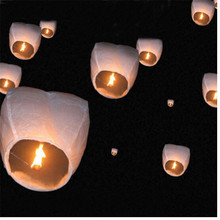 White color Paper Chinese wishing lantern hot air balloon Fire Sky lantern for Thanksgiving Birthday Wedding Party color(China)