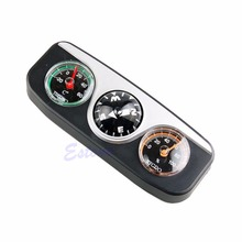 3in1 Guide Ball Car Boat Vehicles Auto Navigation Compass Thermometer Hygrometer-P101