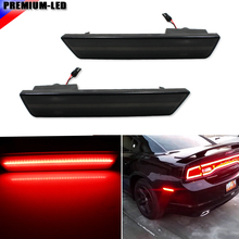 (2) Smoked Lens Rear Side Marker Lamps with 36-SMD Red LED Lights For 2008-2014 Dodge Challenger, 2011-2014 Dodge Charger(China)