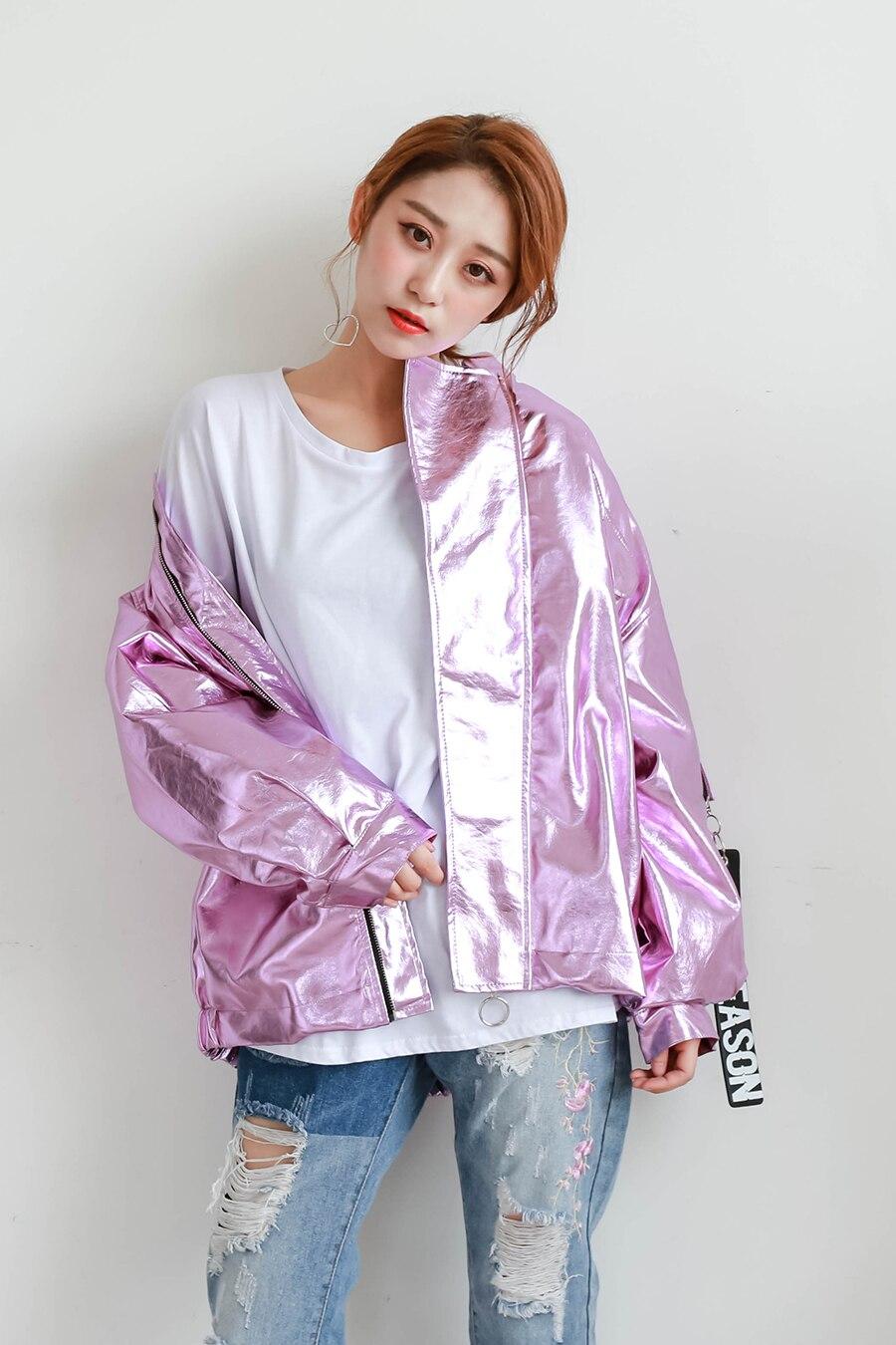 2017-Autumn-New-Metal-Barbie-Pink-Silver-Hologram-Punk-Hip-Hop-Loosen-Jacket-Casual-Women-Men (6)